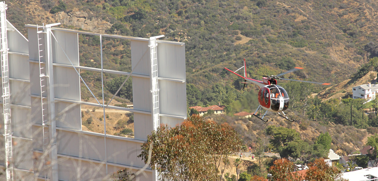 Los Angeles Hollywood Sign Helicopter