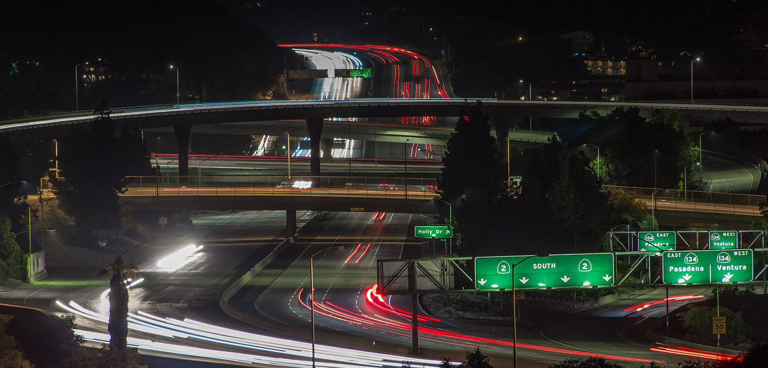 Los Angeles Time-Lapse Glendale Freeway