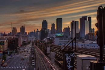 New York Time-Lapse Sunset Queens