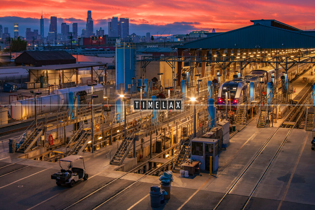Los Angeles time-lapse from the East Olympic Blvd. in Boyle Heights