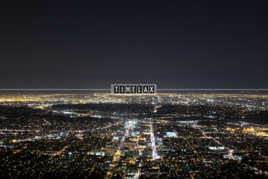 Los Angeles panoramic time-lapse from the Verdugo Mountains in Glendale, California.