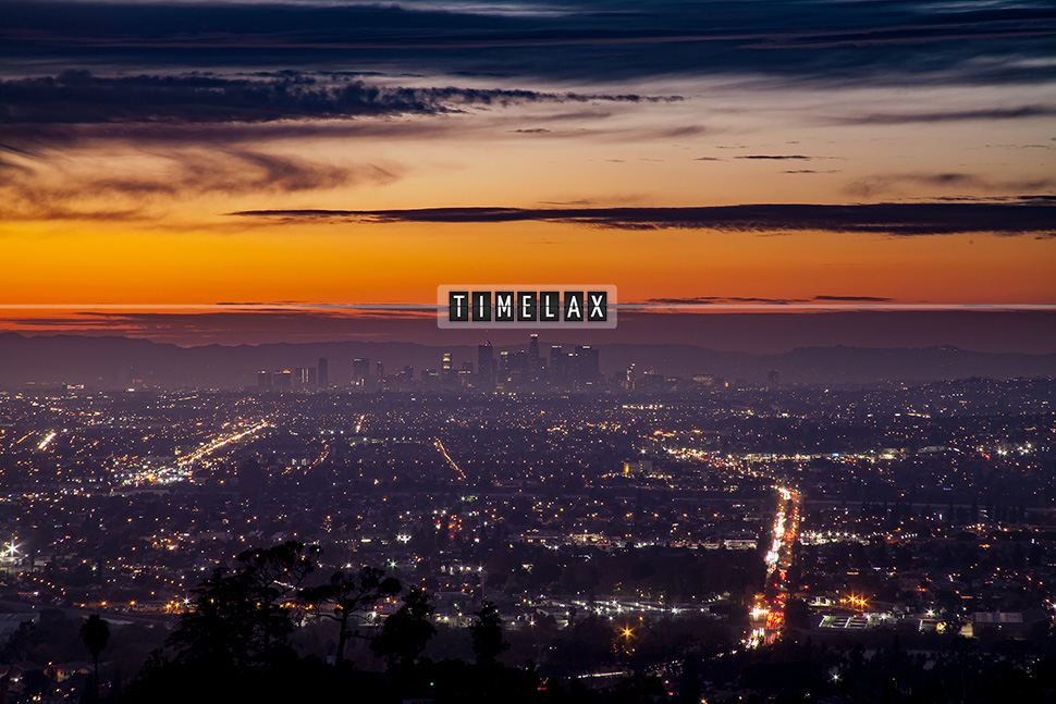 Los Angeles time-lapse sunset from Turnbull Canyon in Whittier.